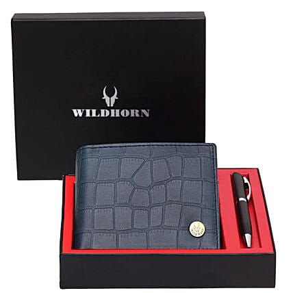 Wildhorn Leather Wallet Combo Blue