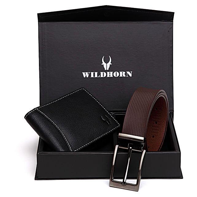 Wildhorn Stylish Men Wallet Gift Set Brown