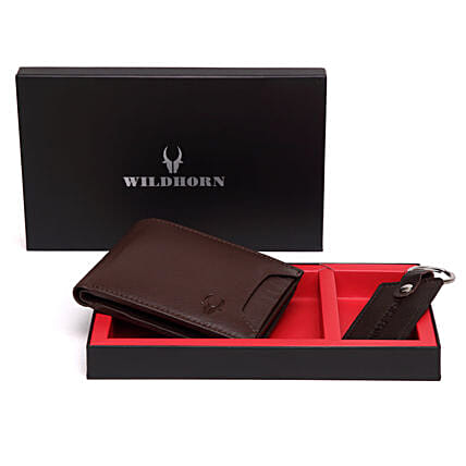 Wildhorn Suave Men Wallet Gift Set Brown:Leather Gifts