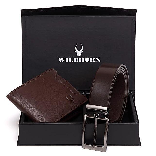 Wildhorn Urbane Men Wallet Combo Brown