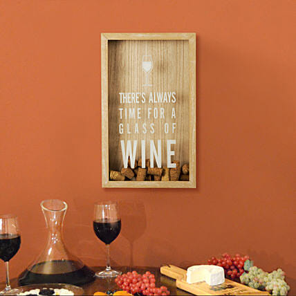 Wooden Box for Wine Glass