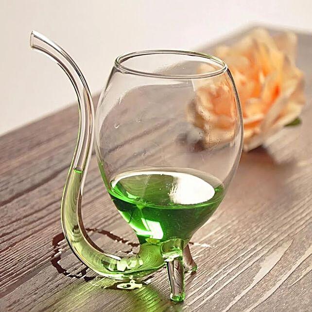 Online Straw Tube Wine Glasses
