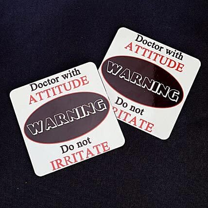 With Love to Doc-Attitude coasters