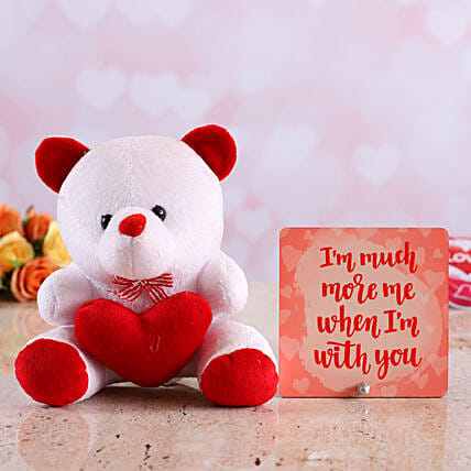teddy with table top for valentine