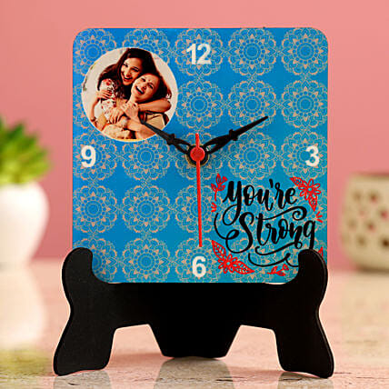 Women s Day Special Personalised Table Clock Hand Delivery