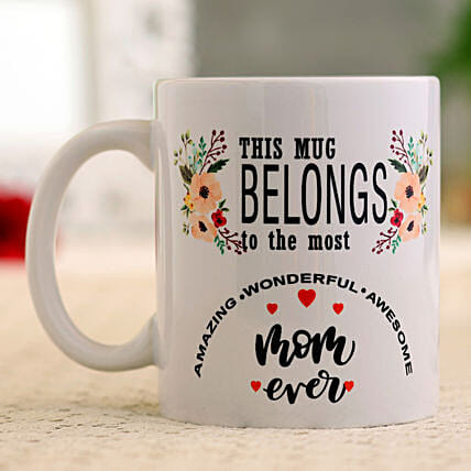 Wonderful Awesome Mom Mug Hand Delivery
