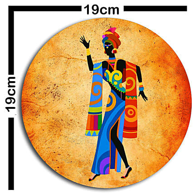 African art wallplatesSet of 3
