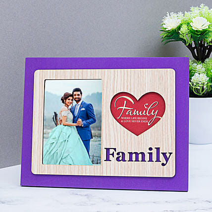 family table top photo frame