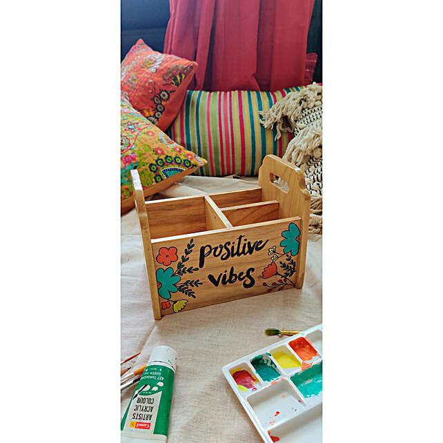 Wooden Multipurpose Organizer Box
