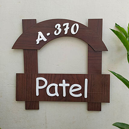 Customised Wooden Name Plate:Personalised Name Plates