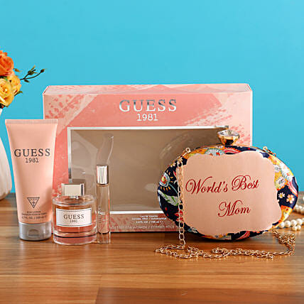 Worlds Best Mom Gift Hamper:Perfumes for Mothers Day