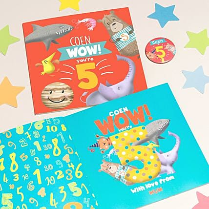 Personalised Paperbook for 5 Year Old:Gifts for Kids