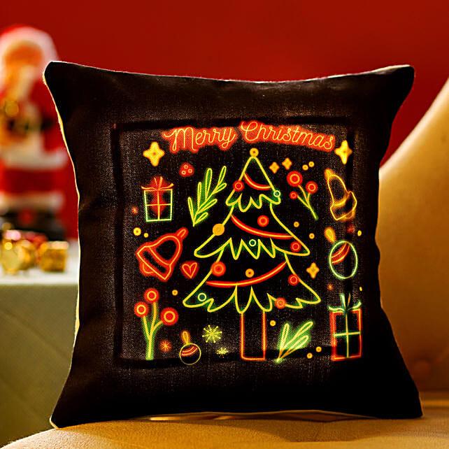 Online Xmas Tree LED Cushion