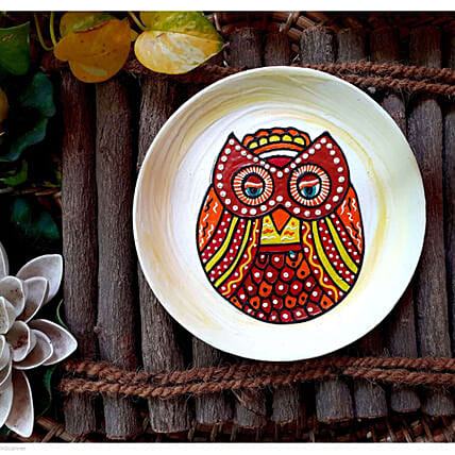 Yellow Idle Owl Wallplates