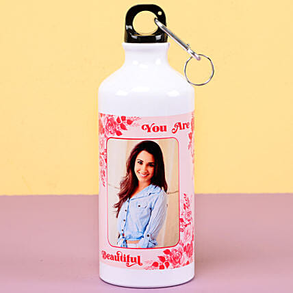Photo printed water bottle for womens day