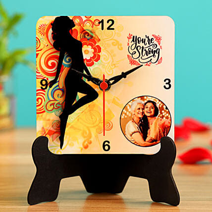 You Are Strong Personalised Table Clock Hand Delivery