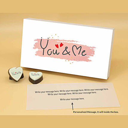 You & Me Personalised Chocolate Box online