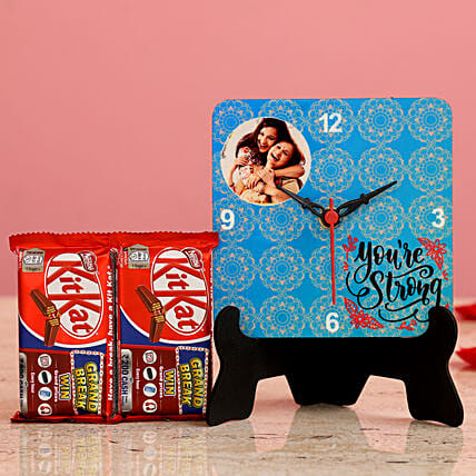 You re Strong Personalised Table Clock KitKat Hand Delivery