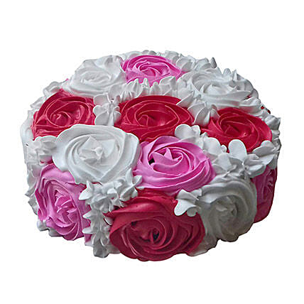 Yummy Colourful Rose Cake:Daughters Day Cakes