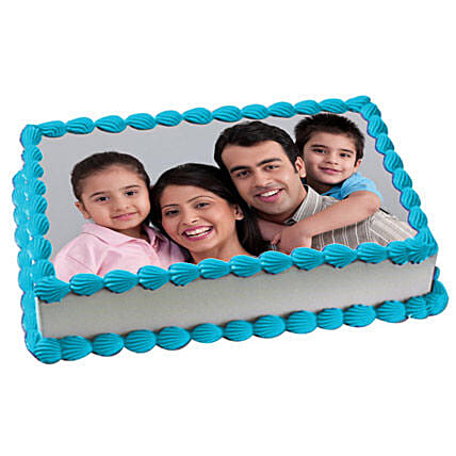 Yummy Vanilla Photo Cake 1kg Eggless