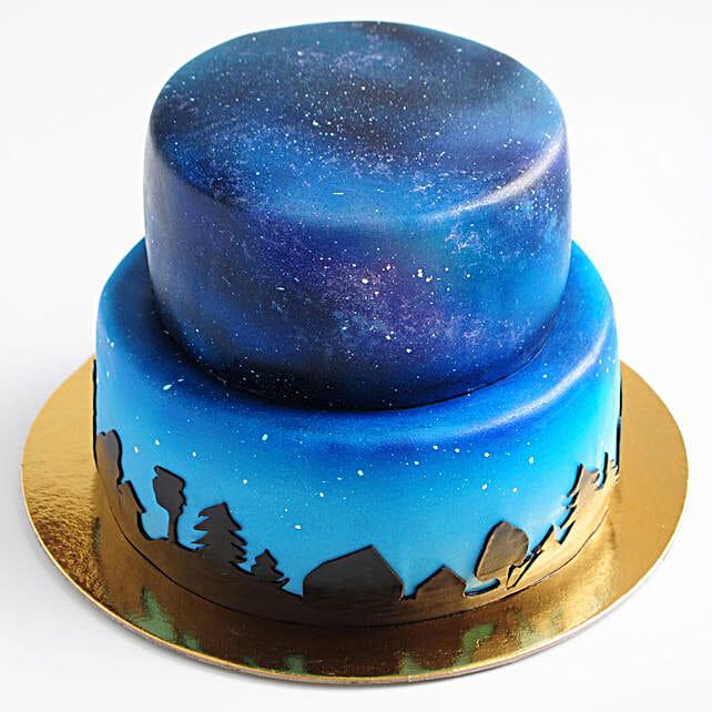 OnlineYummylicious 2 Tier Truffle Cake