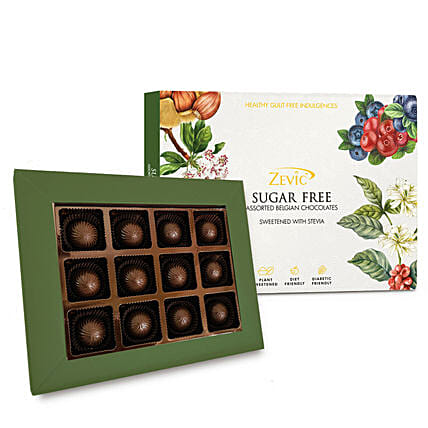 Zevic Assorted Sugar Free Almond Chocolates Pack