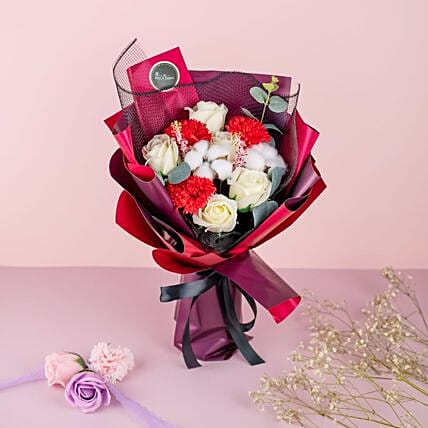Alluring Carnations And Roses Bouquet