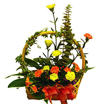 Charismatic Basket Of Flowers