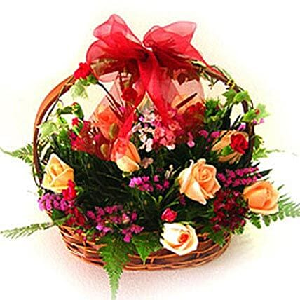 Exceptional Floral Beauty Basket