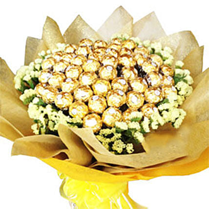 Golden Bouquet Of Chocolates
