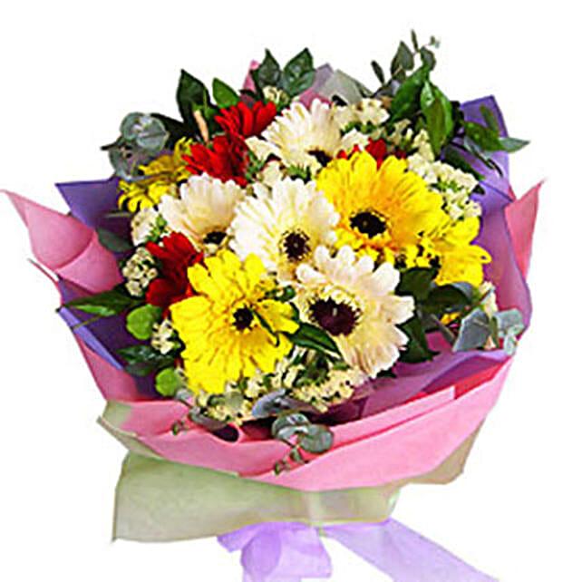 Mix Color Gerberas Bouquet