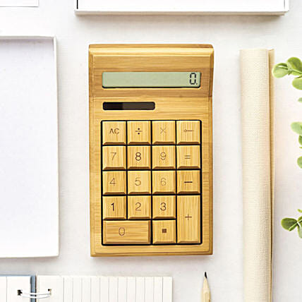 Personalised Wooden Calculator