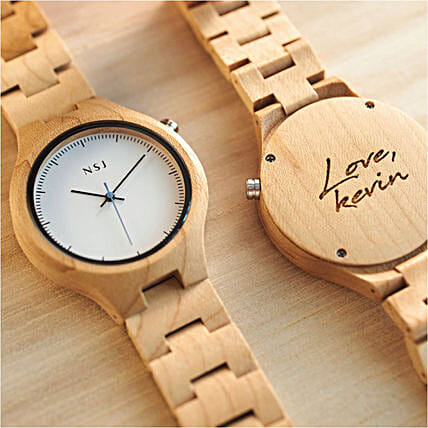 Personalised Wooden Watch Joven Maple Collection:Send Anniversary Gifts to Malaysia