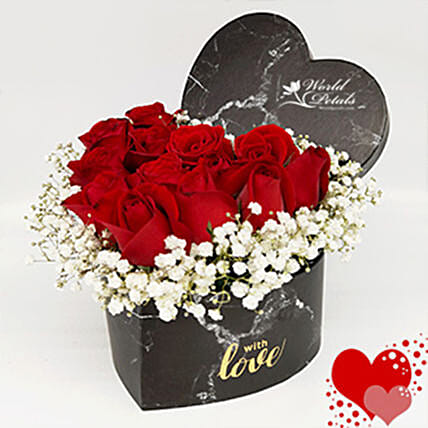 Red And White Floral Arrangement:Anniversary Gifts Delivery to Malaysia