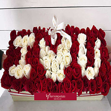 Red Beauty Love Flower Box:Send Anniversary Flowers to Malaysia