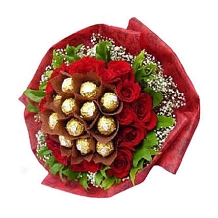 Sweet And Divine Rocher Bouquet:Send Thank You Gifts to Malaysia