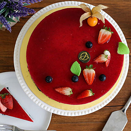 Tempting Mixed Berry Cheesecake