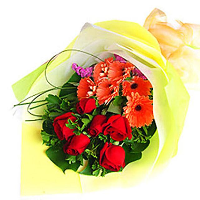Red Bouquet Of Love:Gerberas