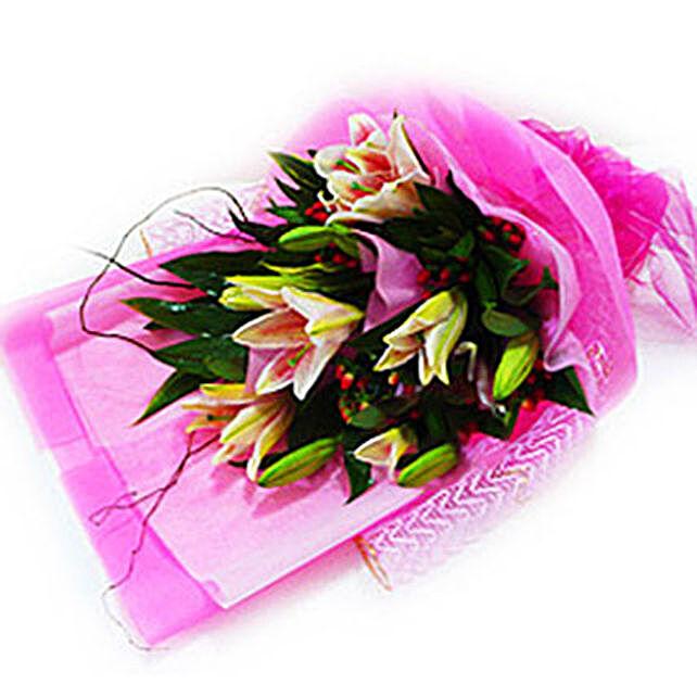 Stargazer Special Bouquet:Lilies to Malaysia