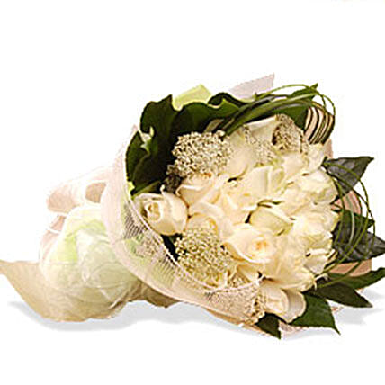 Delicate In Ivory:Send Forever Roses to Malaysia