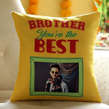 Online Personalised Cushion For Best Brother:Send Bhai Dooj Gifts to Malaysia