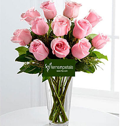 Best Wishes With Pink Roses