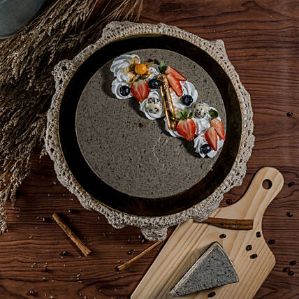 Tempting Black Sesame Cheesecake:Cheesecakes Delivery in Malaysia