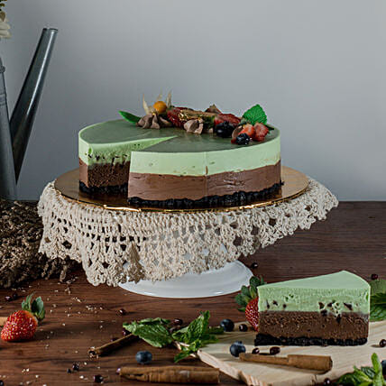 Tempting Chocolate Mint Cheesecake:Cheesecakes Delivery in Malaysia