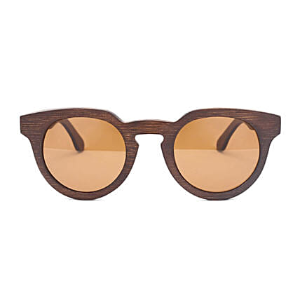 Personalised Bamboo Round Women Sunglasses:Send Personalised Gifts to Malaysia
