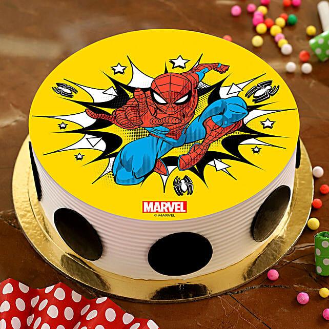 Boom Spiderman Pineapple Photo Cake:Send Birthday Cakes to Malaysia