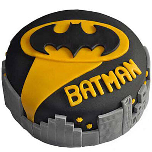 Glitzyy Batman City Cake