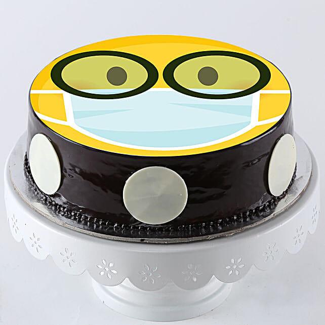 Nerd Mask Emoji Chocolate Cake