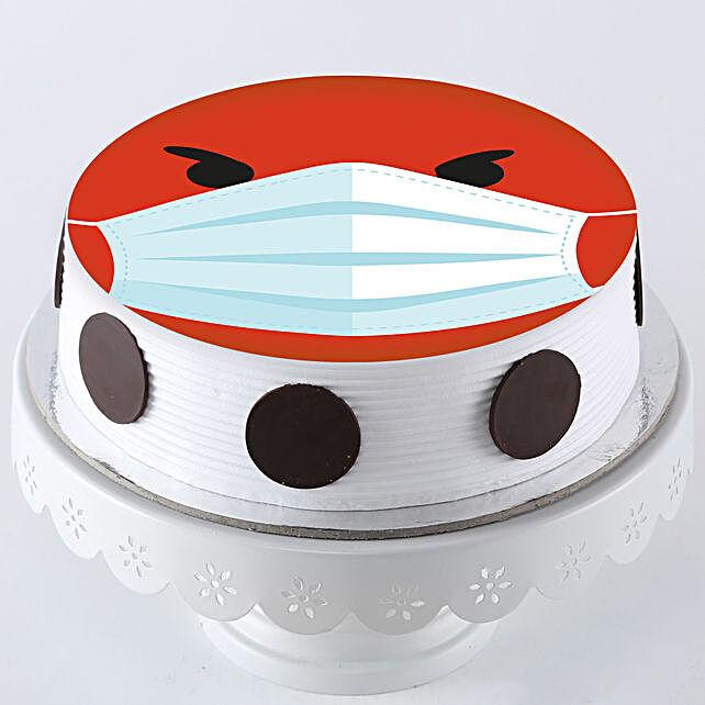 Angry Smiley Quarantine Red Velvet Cake