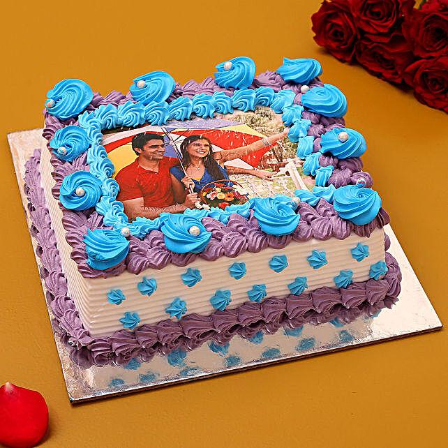 Couple Love Photo Cream Cake 1.5 Kg
